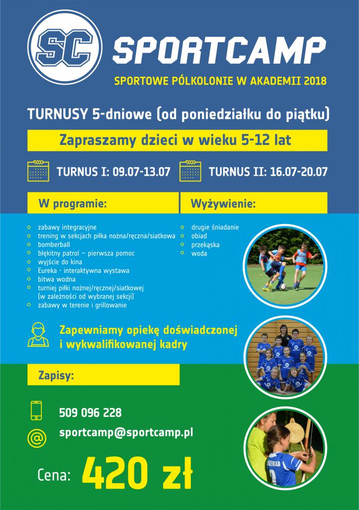 Akademia SportCamp organizuje półkolonie piłkarskie dla dzieci w wieku 5-12 lat